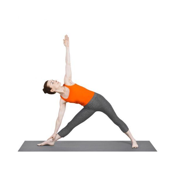 UTTHITA-TRIKONASANA pozycja trójkąta