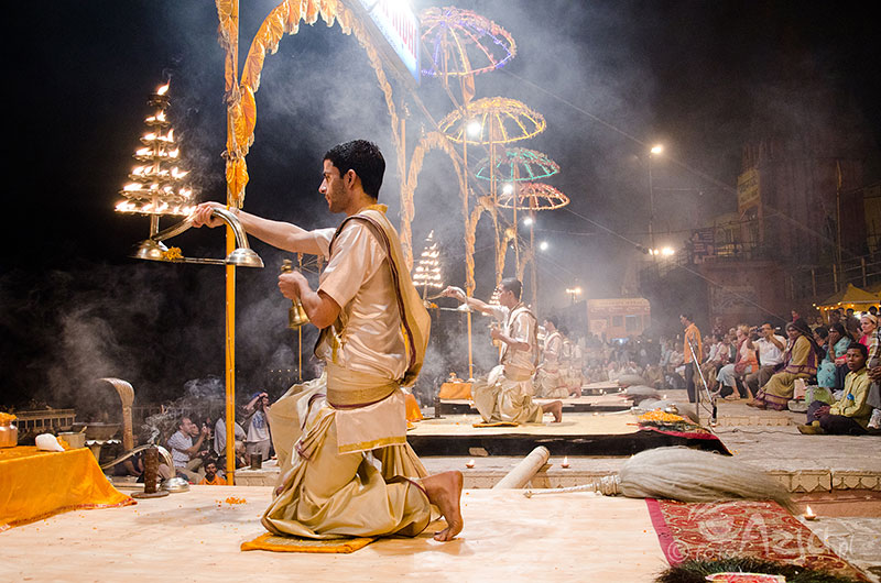 Ganga Arathi w Varanasi
