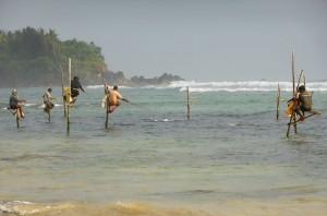 Rybacy zWeligama, Sri Lanka