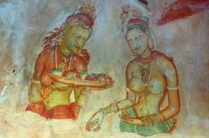 """""""Niebiańskie Dziewice"""" wSigiriya, Sri Lanka"""