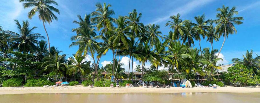 Wypocznij na jednej ztropikalnych plaż Sri Lanki