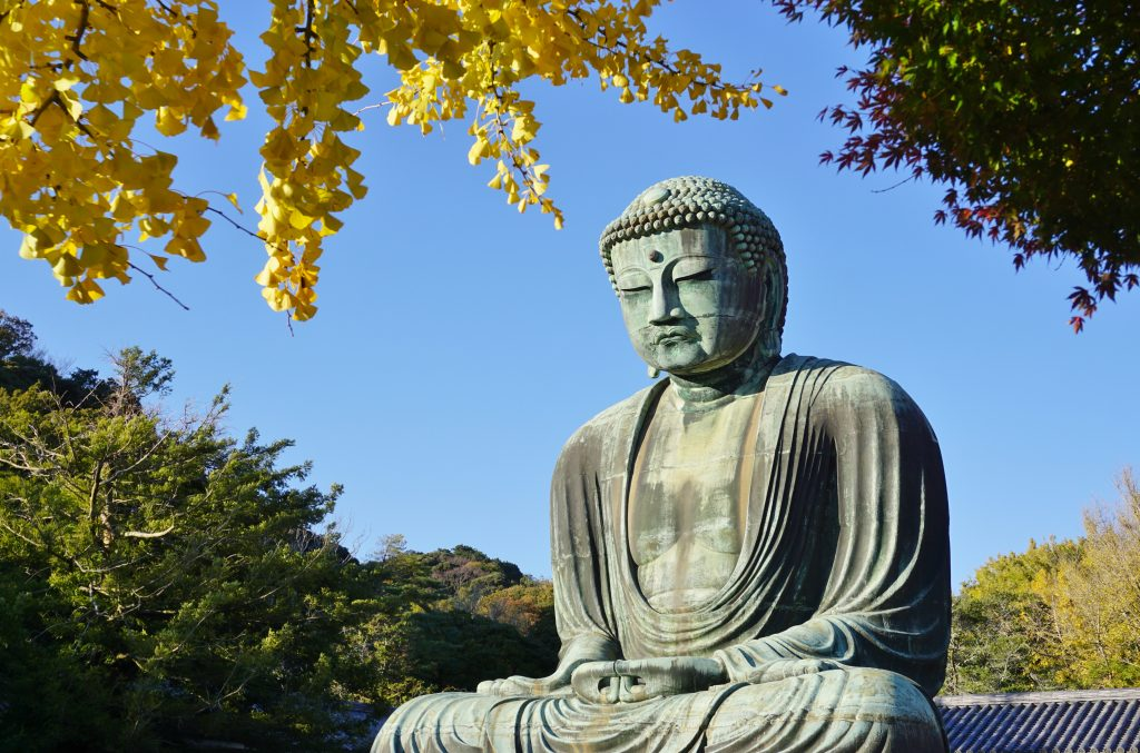 The Great Amida Buddha of Kamakura (Daibutsu) in the Kotoku-in Temple