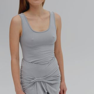 TANK TOP TWIST aqua grey
