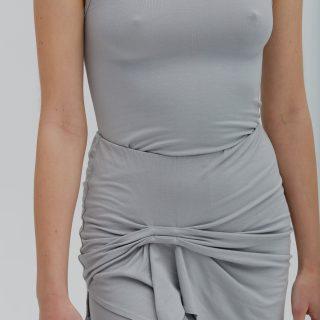 Legginsy ze spódniczką aqua grey
