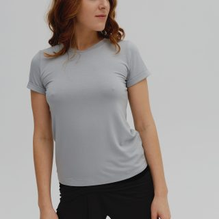 T-SHIRT BASIC  aqua grey